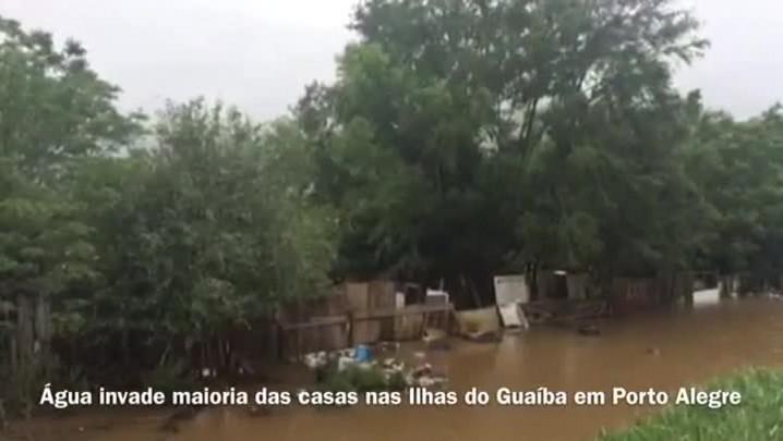 Vídeo: água invade maioria das casas nas Ilhas do Guaíba em Porto Alegre