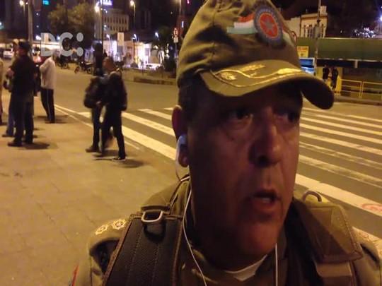 Coronel da PM faz balanço do prostesto contra Temer em Florianópolis