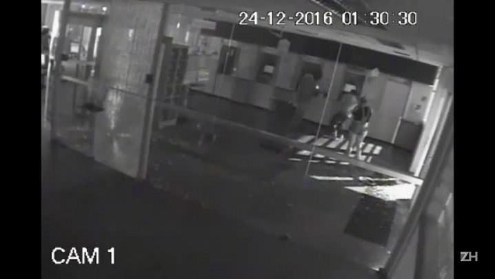 Imagens mostram momento da explosão a agência bancária de São Sepé