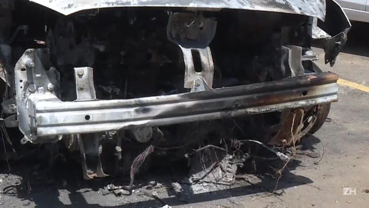 Carro carbonizado foi alugado por embaixador grego