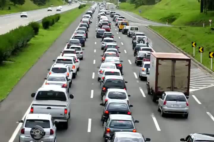 Engarrafamento na freeway