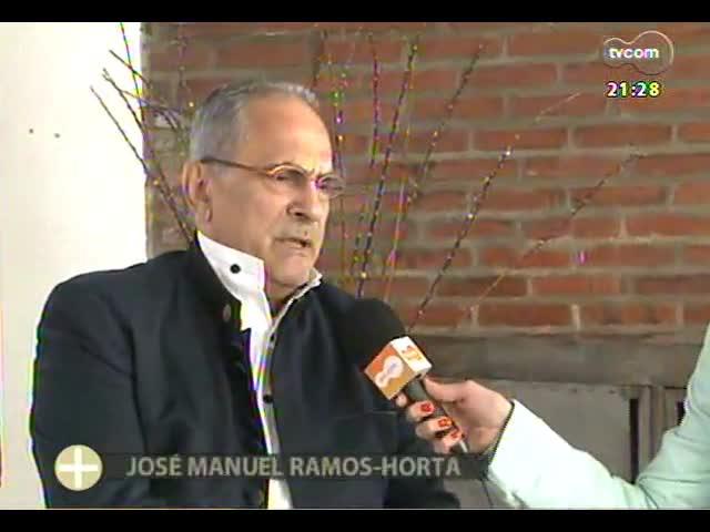 TVCOM Tudo Mais - Ex-presidente do Timor Leste e Nobel da Paz, Ramos Horta conversa com equipe do Tudo+