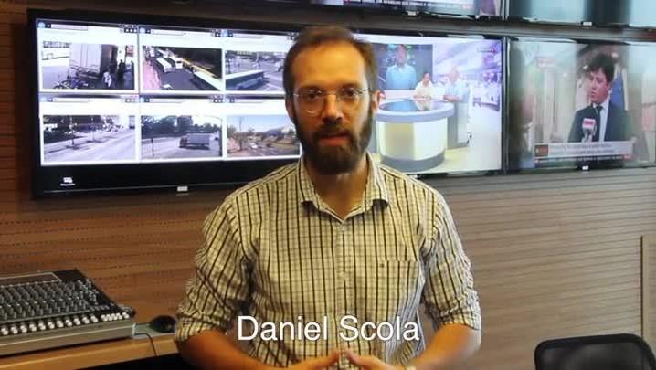 Daniel Scola apresenta o novo estúdio da Rádio Gaúcha
