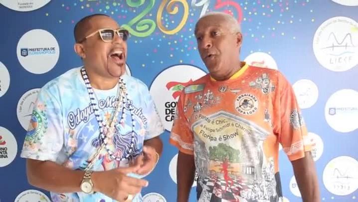 Sabarah e Jaíco cantam a música No tempo de Caco