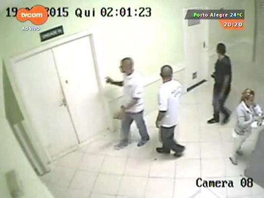 TVCOM 20 Horas - Imagens de câmeras de vigilância mostram a ação de bandidos no Hospital Vila Nova - 19/03/2015