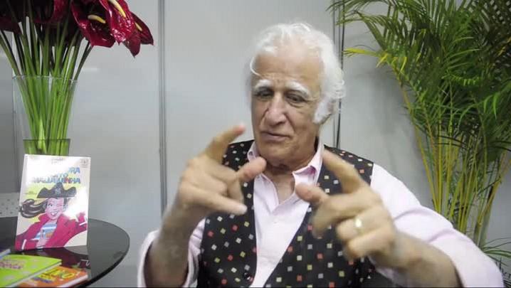 Ziraldo deixa mensagem para os pequenos leitores de Joinville