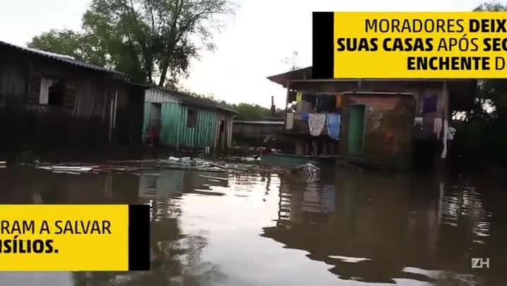 Cachoeirinha: moradores deixam suas casas após segunda enchente