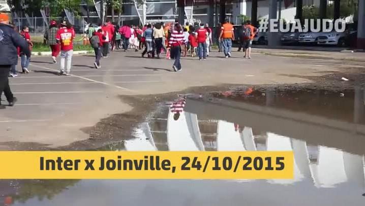 Desabrigados pela enchente assistem a Inter x Joinville no Beira-Rio