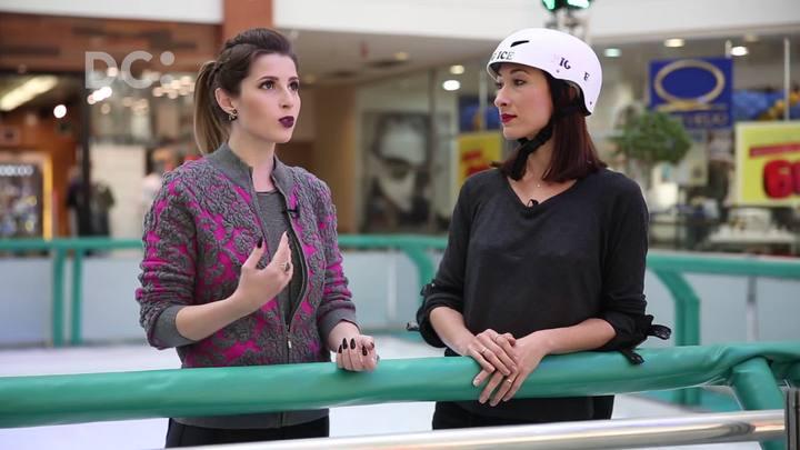 Yasmine conversa com a youtuber e patinadora artística, Camilla Guerra