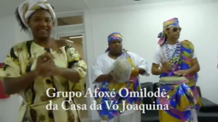 Grupo Afoxé Omilodê, da Casa da Vó Joaquina