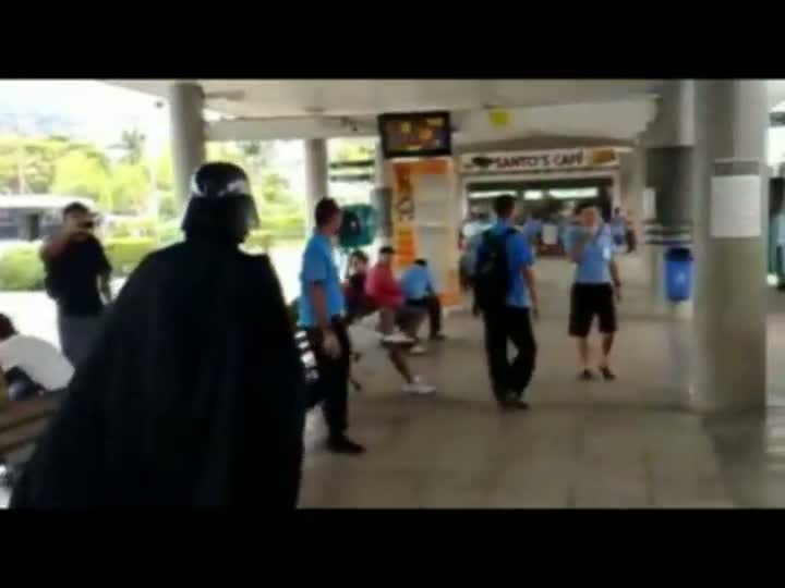 Darth Vader no Ticen, em Florianópolis.