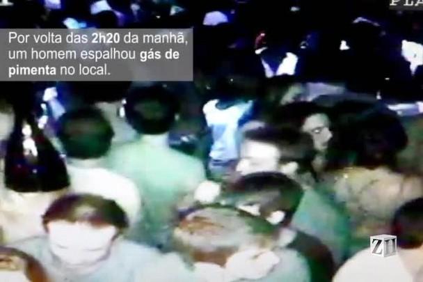 Imagens mostram tumulto na saída de boate em Guaporé