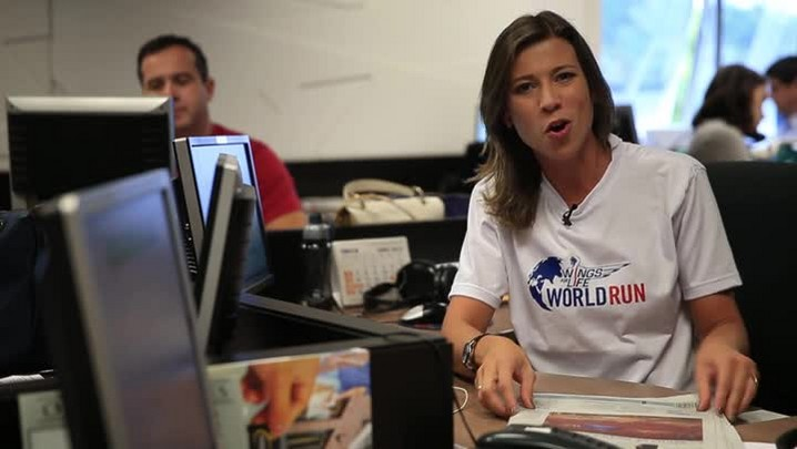 Camille Reis também abraçou a causa da Wings for Life World Run e deixa seu recado