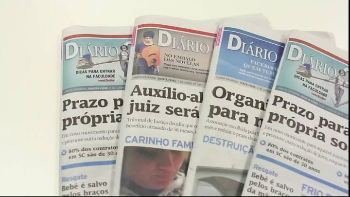 Chamadas Diário Catarinense 06 de junho de 2014