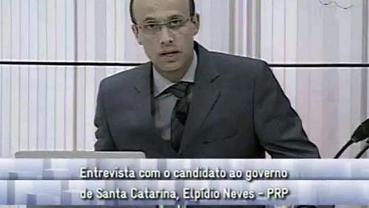 Conversas Cruzadas - Entrevista com o Candidato ao Governo de SC Elpídio Neves - 2ºBloco - 19.09.14
