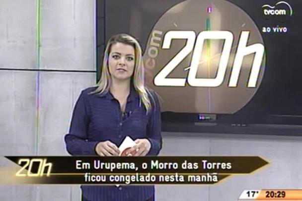 TVCOM 20 Horas - Em Urupema, o Morro das Torres ficou congelado nesta manhã - 15.06.15