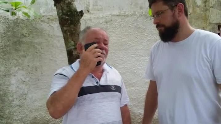 Sogro do prefeito de São João Batista liga para a esposa após ser resgatado de sequestro