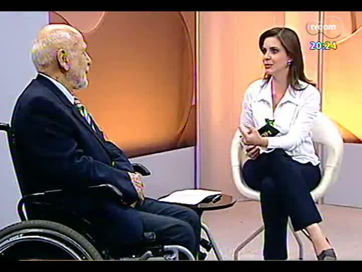TVCOM 20 Horas - Especial comemorativo da Semana de Porto Alegre: entrevista com o ex-vereador e ex-prefeito João Dib - Bloco 3 - 27/03/2013