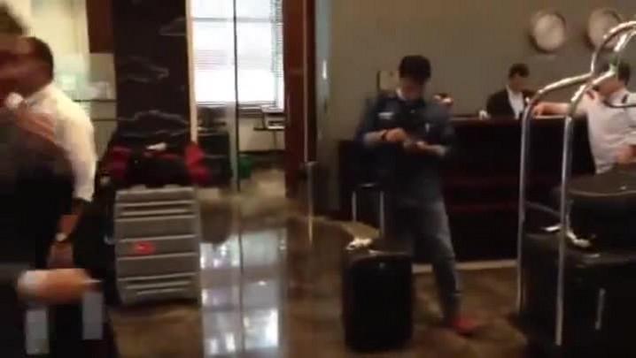 Confira como foi a chegada do Grêmio em Medellin - 31/03/2014
