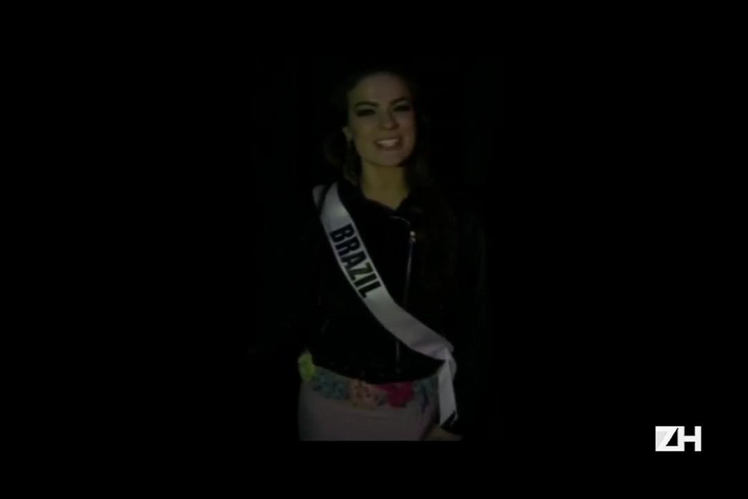 Miss Brasil manda mensagem agradecendo o apoio e a torcida brasileira