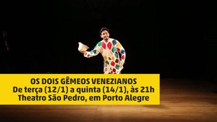 """Ensaio da peça \""""Os Dois Gêmeos Venezianos\"""""""