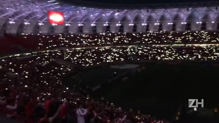 Após título do hexa, Inter faz show de luzes no Beira-Rio