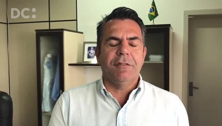 Secretário da Infraestrutura, Luiz Fernando Vampiro, explica próximos passos das obras nas cabeceiras da ponte Hercílio Luz