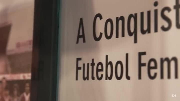 Inter inaugura exposição sobre futebol feminino