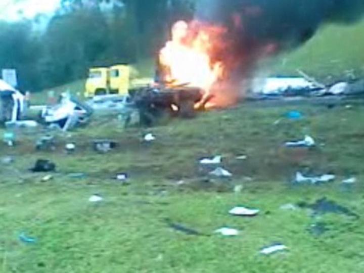 Motorista registra imagens após acidente na BR-376