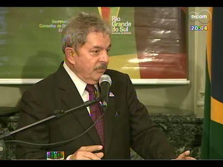 TVCOM 20 Horas - Informações sobre a visita de Dilma e Lula a Porto Alegre - Bloco 1 - 14/05/2013