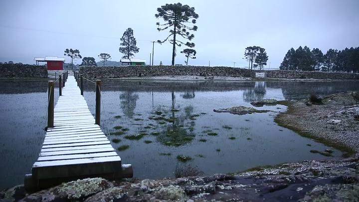 Neve transforma a paisagem em São José dos Ausentes