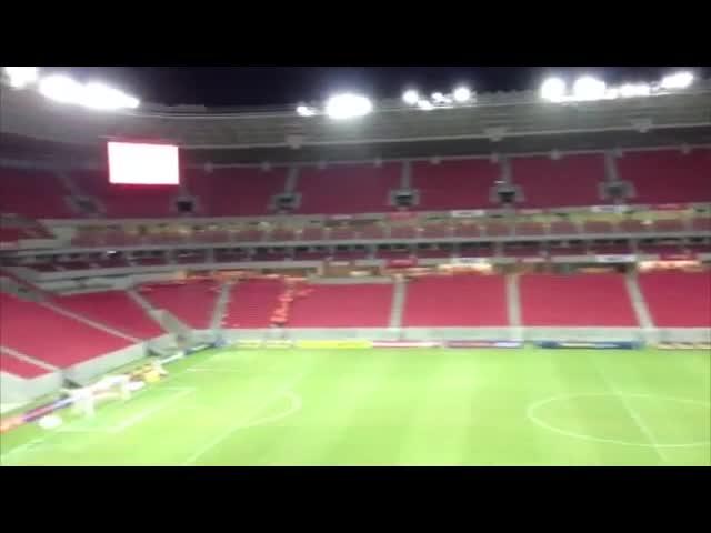 Rádio Gaúcha já está na Arena Pernambuco para o jogo desta noite.