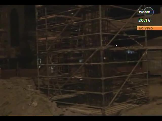 TVCOM 20 Horas - Entenda como está a situação da construção do viaduto na Terceira Perimetral - Bloco 2 - 08/10/2013