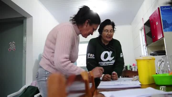 Catarina e Jessi fazem as tarefas da escola
