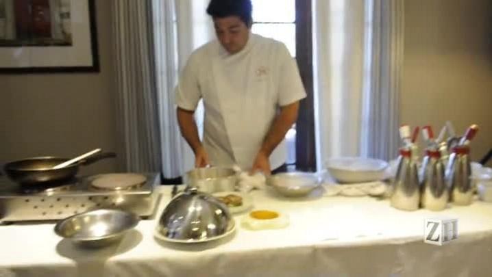 Circuito Gastrô: chef Felipe Bronze apresenta o seu açaí com foie gras e tapioca