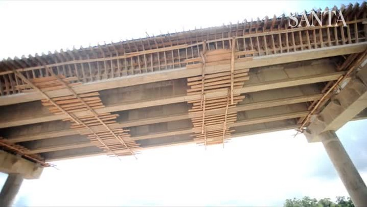Ponte de Ilhota está com 65% das obras concluídas