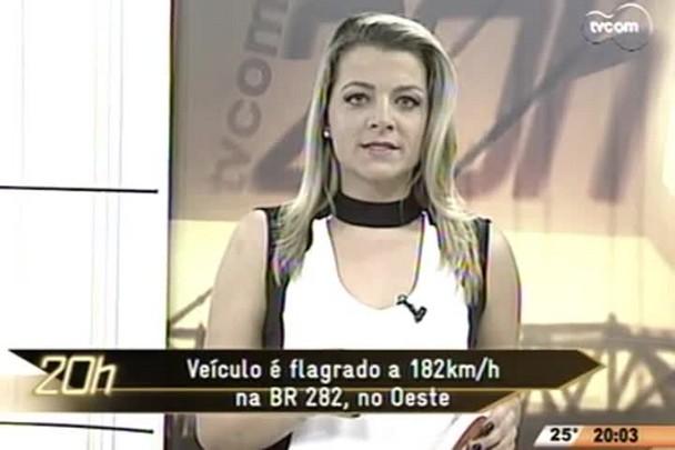TVCOM 20 Horas - Veículo é flagrado a 182km/h na BR 282, no Oeste - 04.06.15