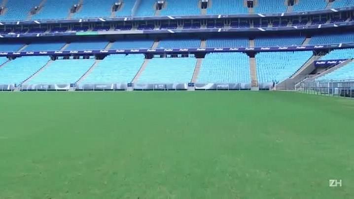 Entenda como funciona a manutenção do gramado da Arena