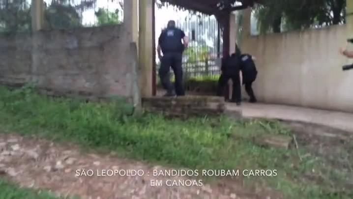 Veja imagens da ação da polícia que prendeu ladrões que roubavam carros de luxo em Canoas
