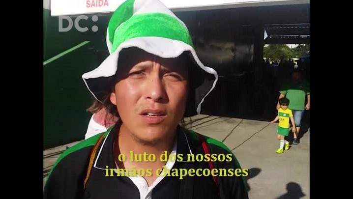 Torcedor do Nacional vai até Chapecó prestar solidariedade