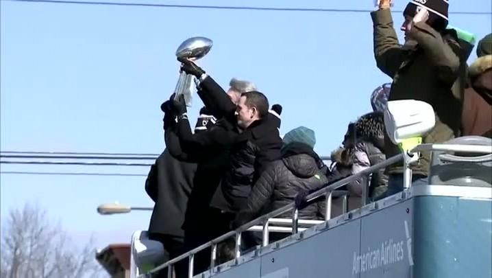 Filadélfia ainda comemora título dos Eagles