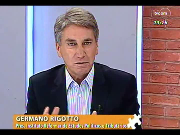 Mãos e Mentes - Ex-governador e presidente do Instituto Reformar de Estudos Políticos e Tributários, Germano Rigotto - Bloco 3 - 14/04/2013
