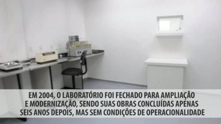 Mesmo após investimentos milionários, laboratório estadual não produz há nove anos