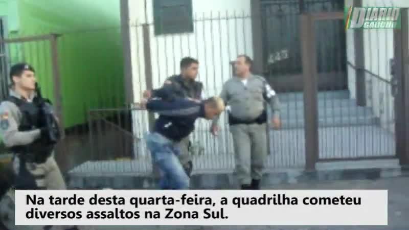 Quadrilha é presa após furtos e perseguição em Porto Alegre