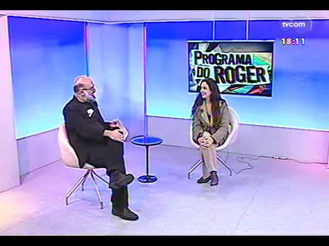 """Programa do Roger - Entrevista com a atriz Clarice Niskier sobre o monólogo \""""A alma imoral\"""" - bloco 3 - 03/10/2013"""