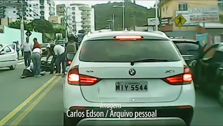 Acidente no bairro Monte Verde é gravado por motorista