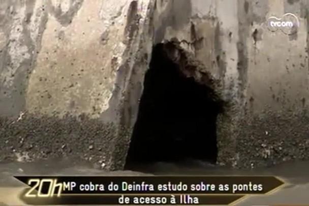 TVCOM 20h - Com um mês de atraso, Deinfra entrega estudo sobre pontes de acesso à ilha - 22.1.15