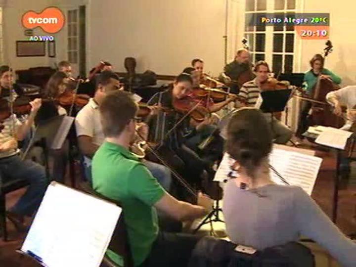 TVCOM Tudo Mais - Theatro São Pedro recebe espetáculo da Orquestra de Câmara do Theatro participação do saxofonista alemão Roger Hodgson