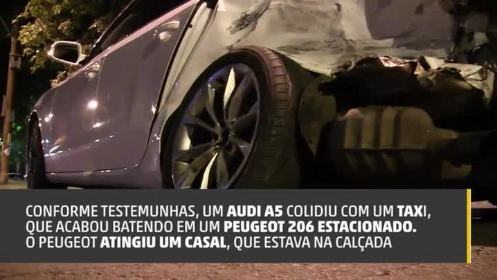 Veja como ficaram veículos envolvidos em acidente na Avenida Goethe, em Porto Alegre