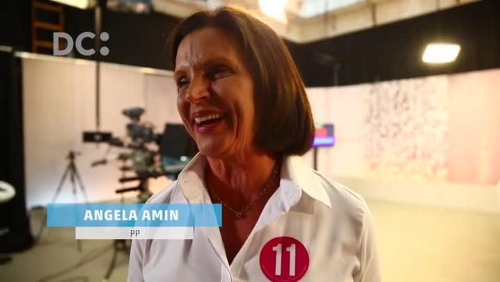 Angela Amin (PP) e Gean Loureiro (PMDB) avaliam o primeiro debate do 2º turno